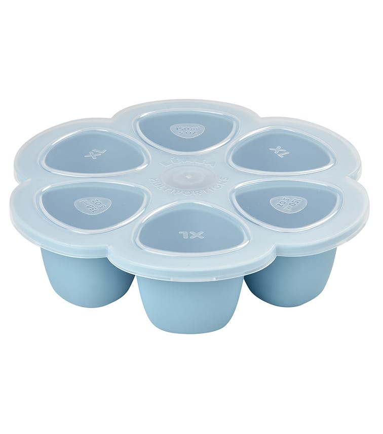 BEABA 6-In-1 Silicone Multiportions 150 ML - Blue