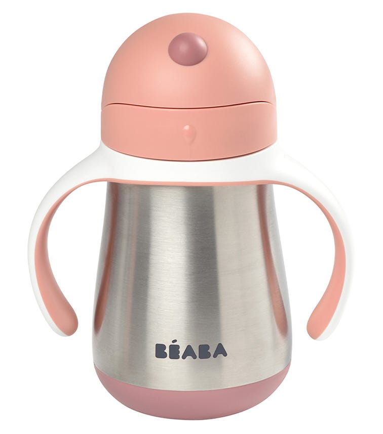 BEABA Stainless Steel Straw Cup - Pink