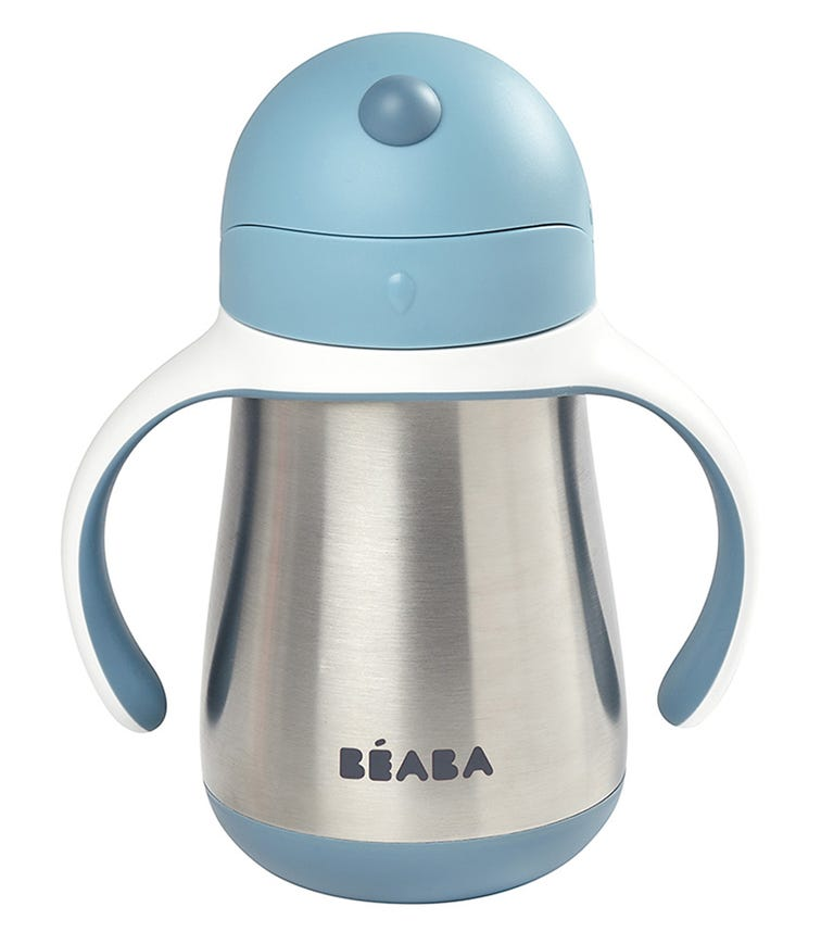 BEABA Stainless Steel Straw Cup - Blue