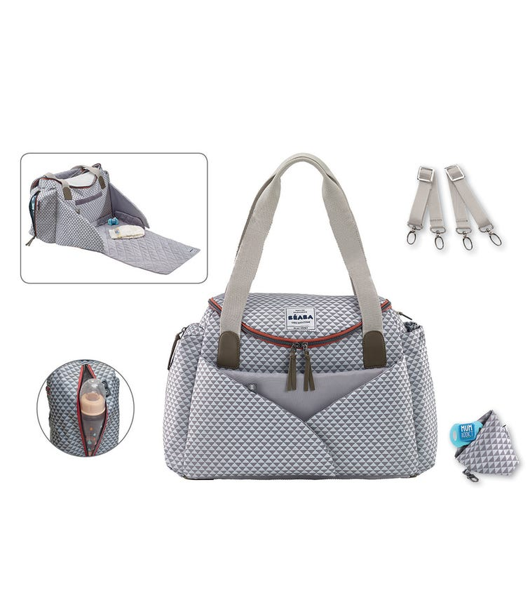 BEABA Sydney II Changing Bag - Grey Print