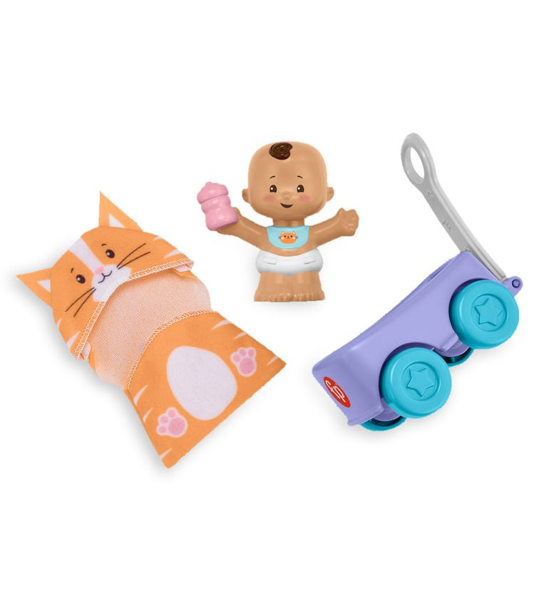FISHER PRICE Little People Babies Fig & Gear - Cat