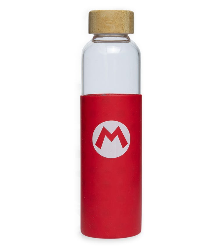 NINTENDO MARIO Glass Bottle With Silicone Cover 585ML