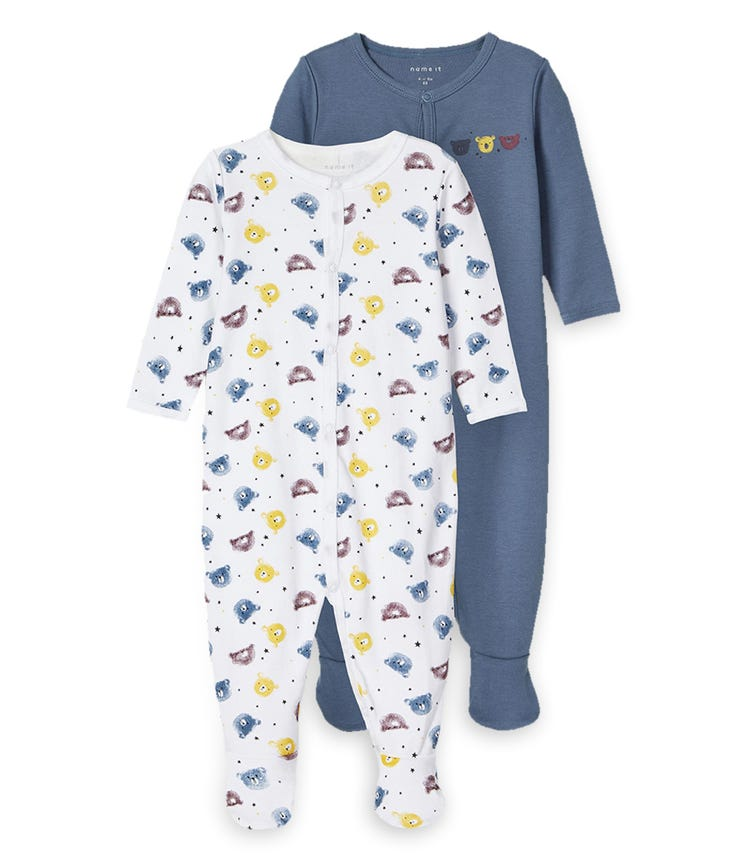 NAME IT Teddy Sleeping Overall (2-Pack)