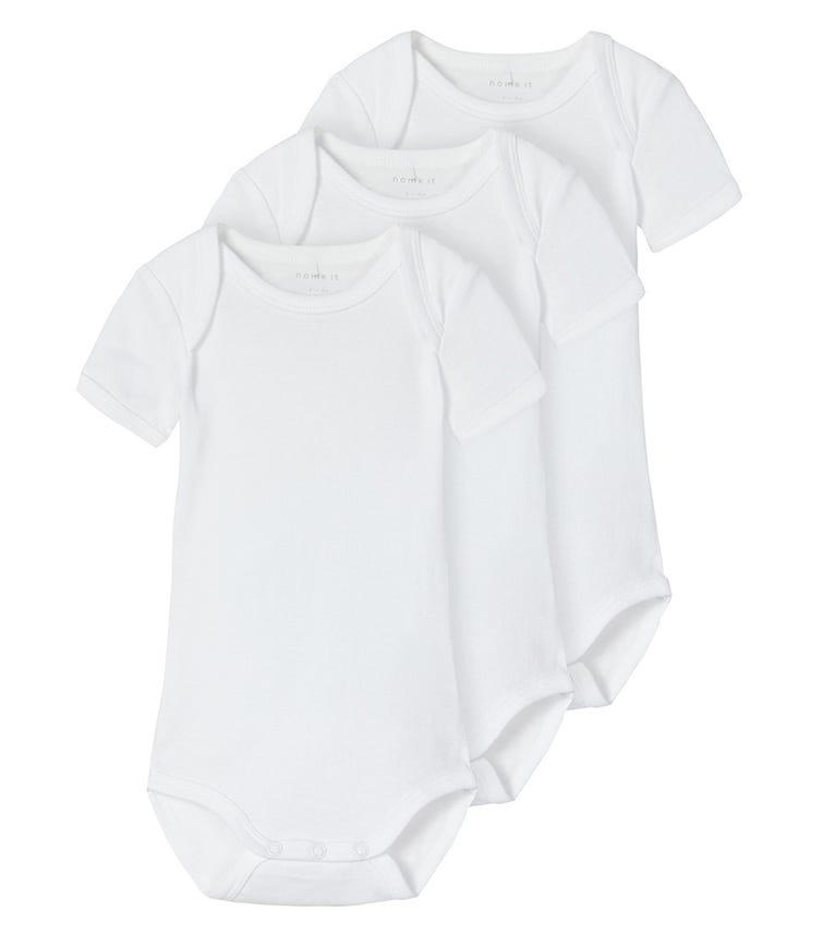 NAME IT Bright White Bodysuit (3-Pack)