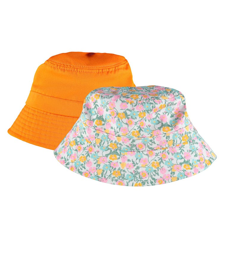 NAME IT Summer Florals Bucket Hat (2-Pack)