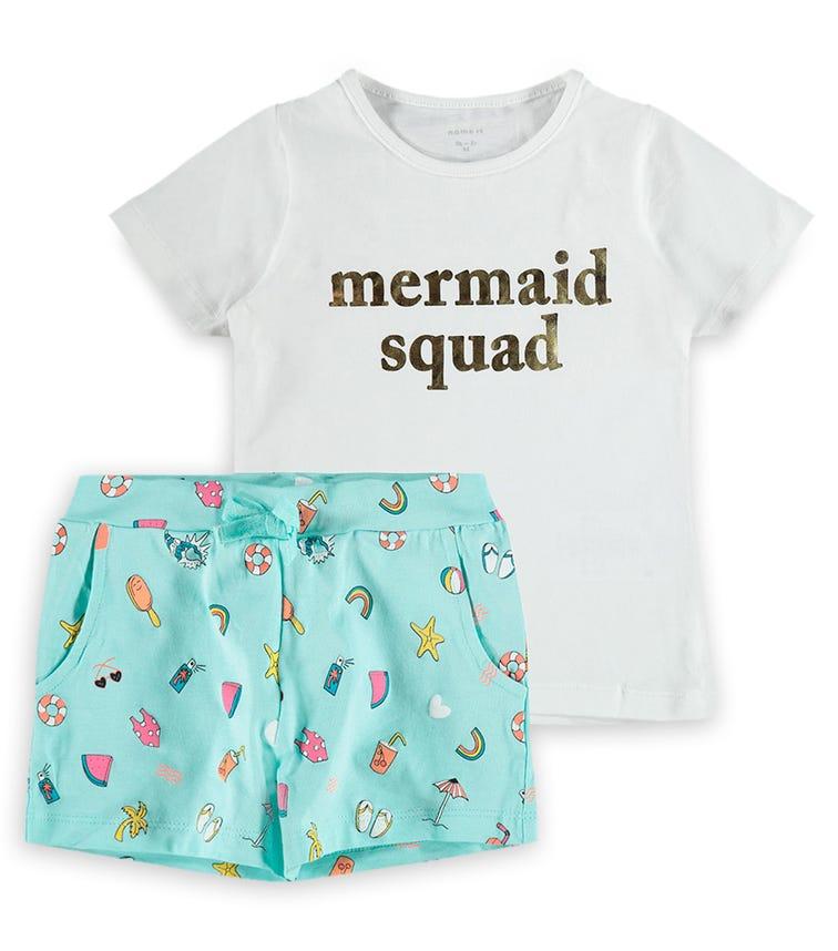 NAME IT Mermaid Squad 2-Piece Set