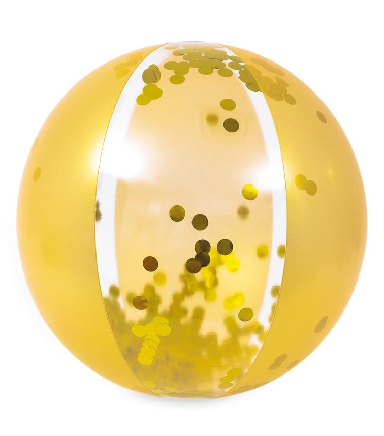 JILONG Glitter Gold Beach Ball