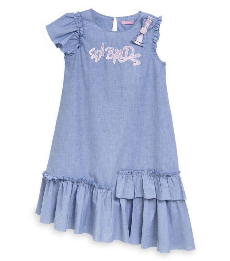 CHOUPETTE Asymmetrical Free Silhoutte Cotton Dress