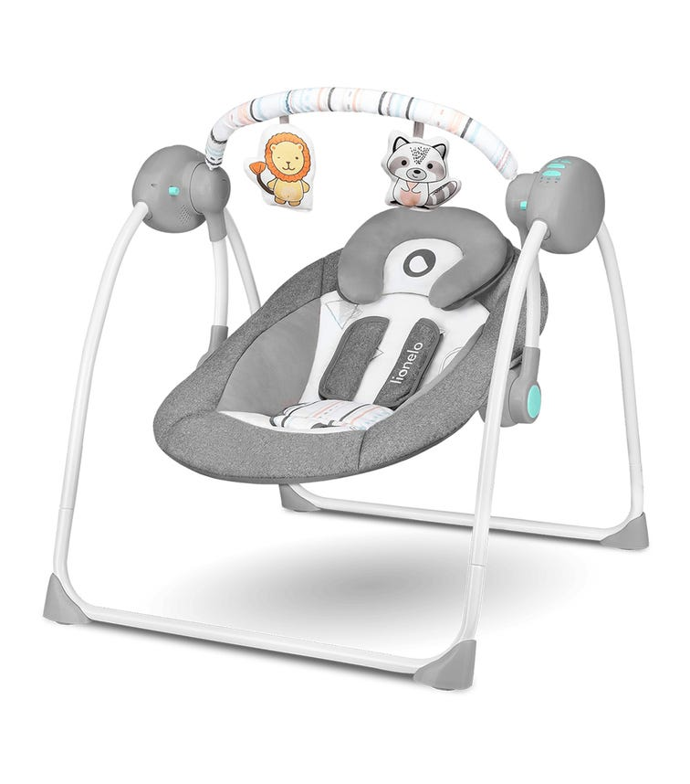 LIONELO Ruben Swinging Chair - Stone Grey Turquoise