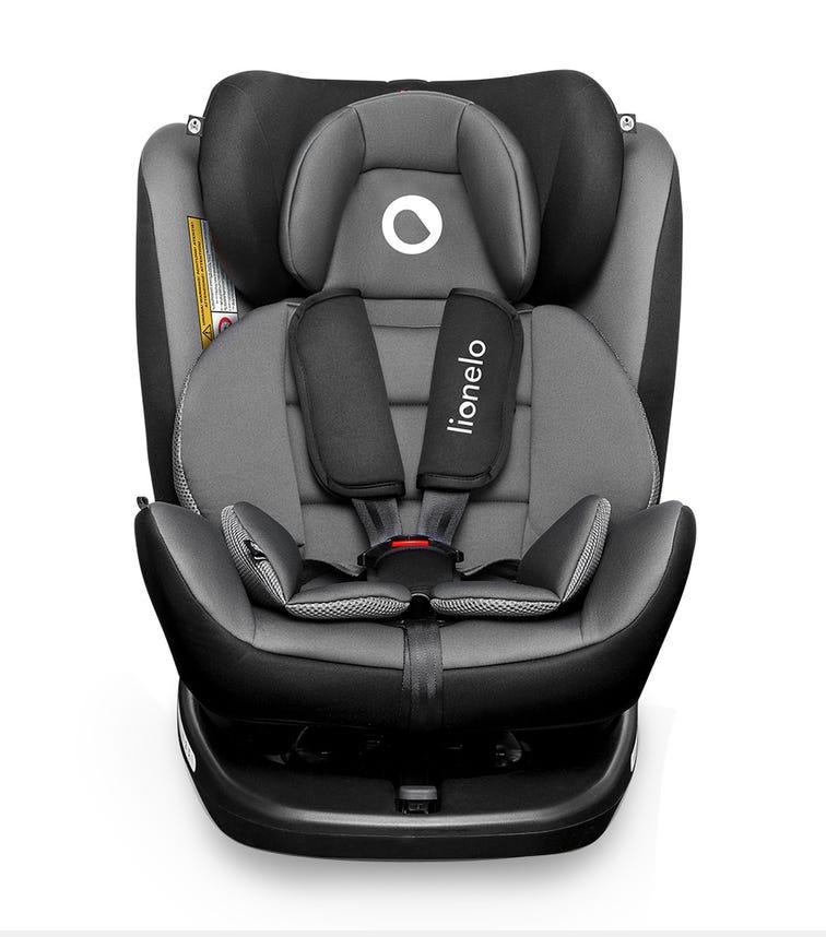 LIONELO Bastiaan 360 Baby Car Seat - Grey Blackbase