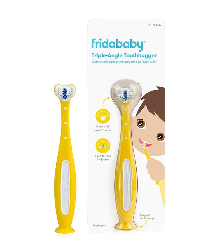 FRIDA Triple-Angle Toothhugger Training Toothbrush - Yellow
