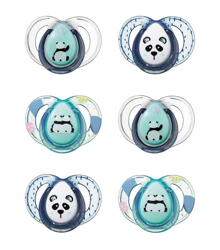 TOMMEE TIPPEE Anytime Soother 6-18M (6-Pack)