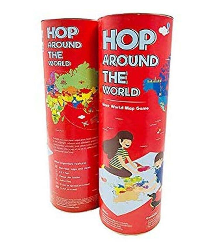COCOMOCO KIDS Hop Around The World - Giant World Map