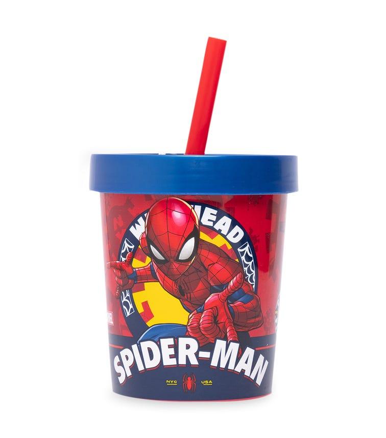SPIDERMAN Daily Use Ice Cream Tub Straw Tumbler 560 ML