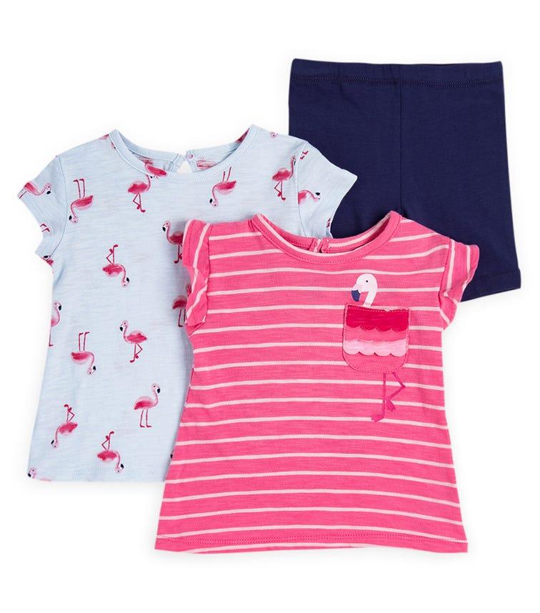 LITTLE ME 3-Piece Flamingo Play Set