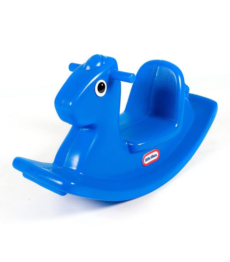LITTLE TIKES Single Base Rocking Horse - Blue