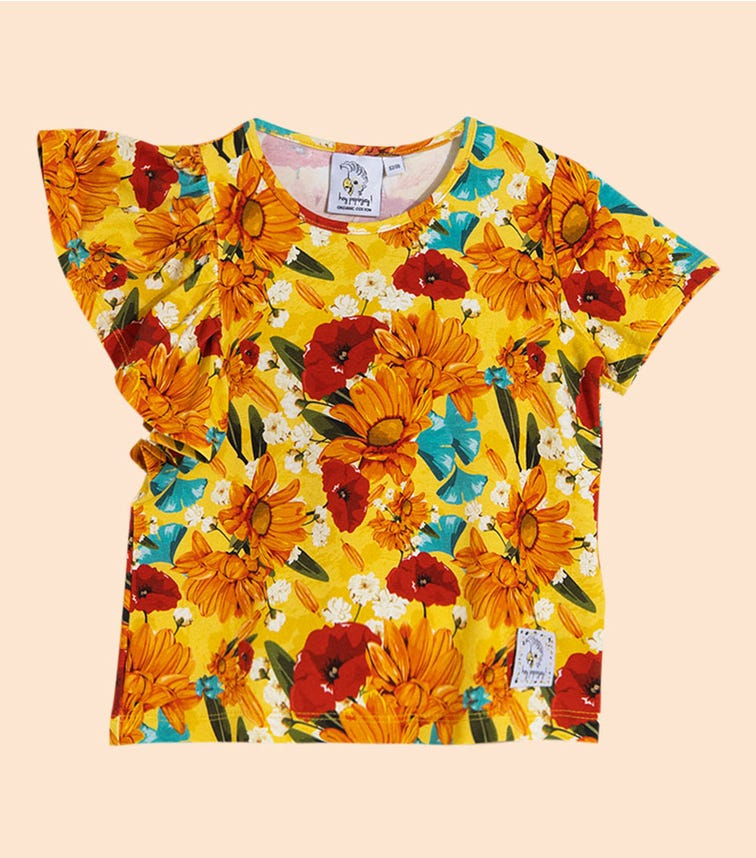 HEY POPINJAY Yellow Meadow Rita T-Shirt