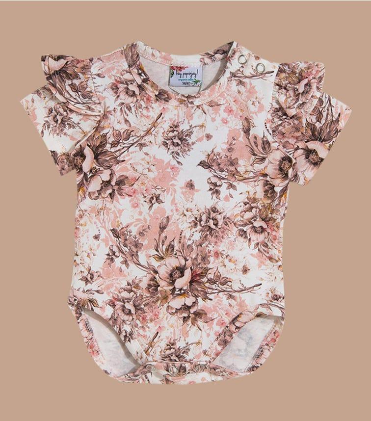 HEY POPINJAY Romantic Floral Bodysuit With Frills