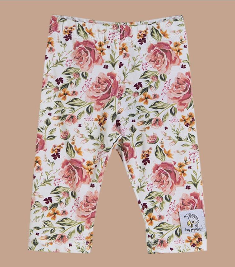 HEY POPINJAY White Roses Leggings