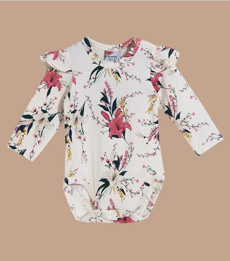 HEY POPINJAY Lily Bodysuit With Frills