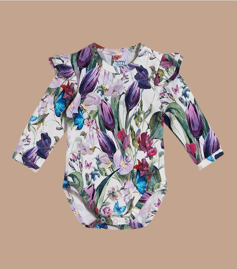 HEY POPINJAY Tulips Bodysuit With Frills