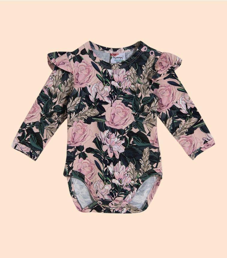 HEY POPINJAY Roses By Aleosa Bodysuit With Frills