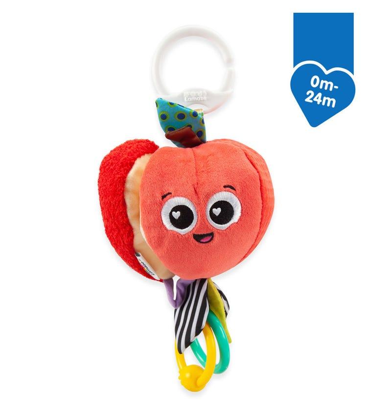 LAMAZE Clip & Go Sensory Toy - Archer The Apple (0-24M)