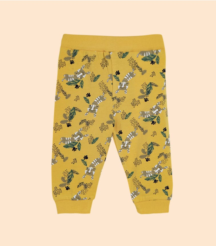NAME IT Ochre Tiger Print Pants