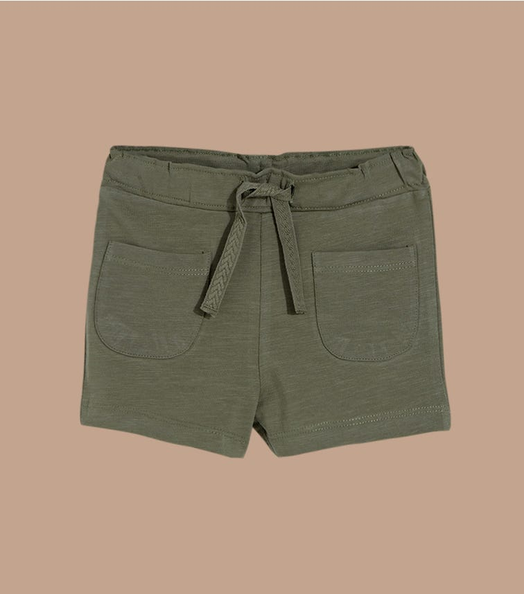 NAME IT Olive Jersey Shorts