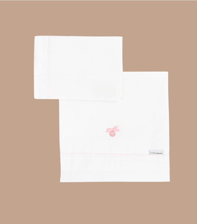 BIMBIDREAMS Pink Suiza 3-Piece Sheet Set
