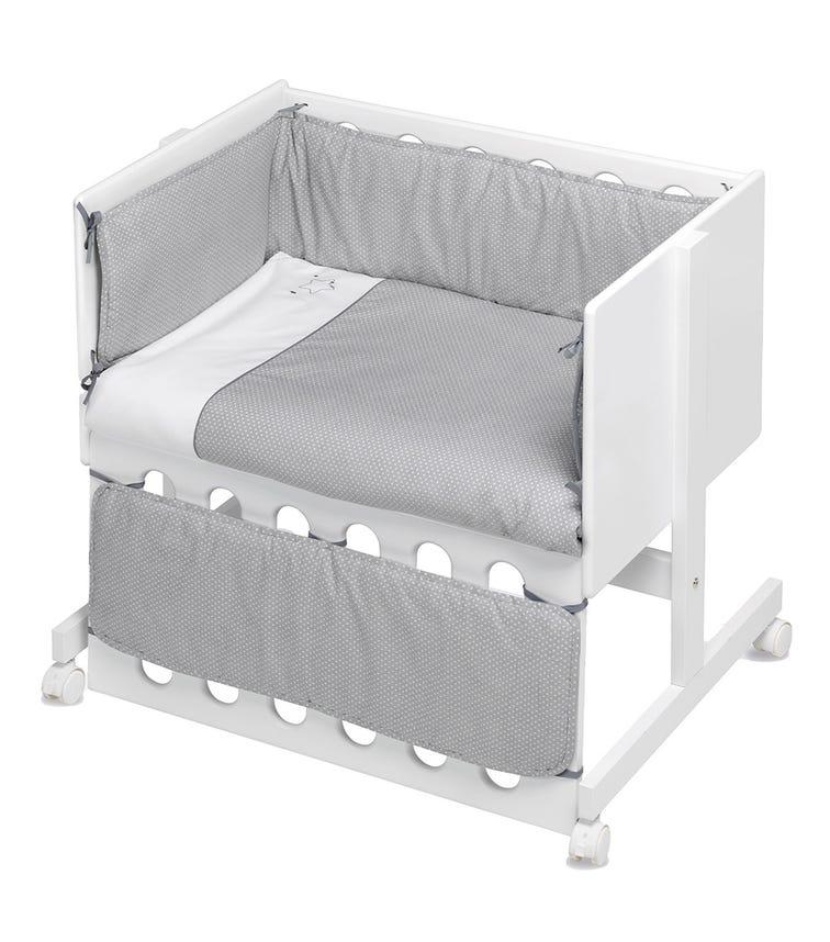 BIMBIDREAMS Grey Luna Co-Sleeping Cradle