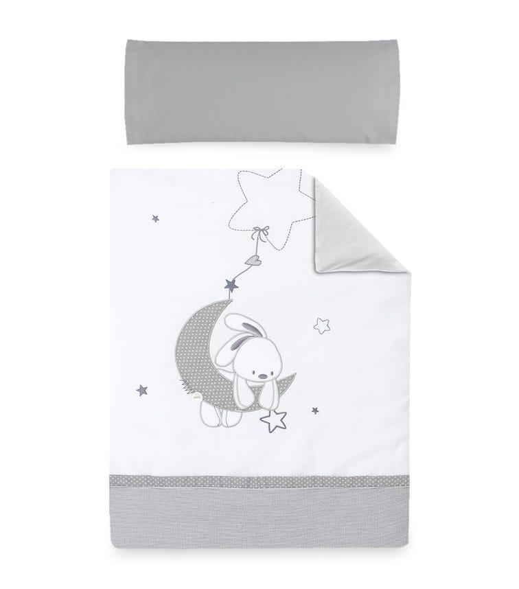 BIMBIDREAMS Moon Bunny Nordic Pillowcase