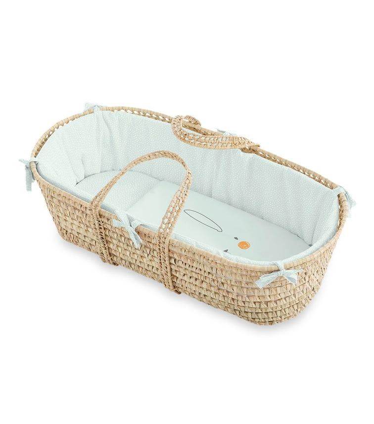 BIMBIDREAMS Conejito Green Moses Basket