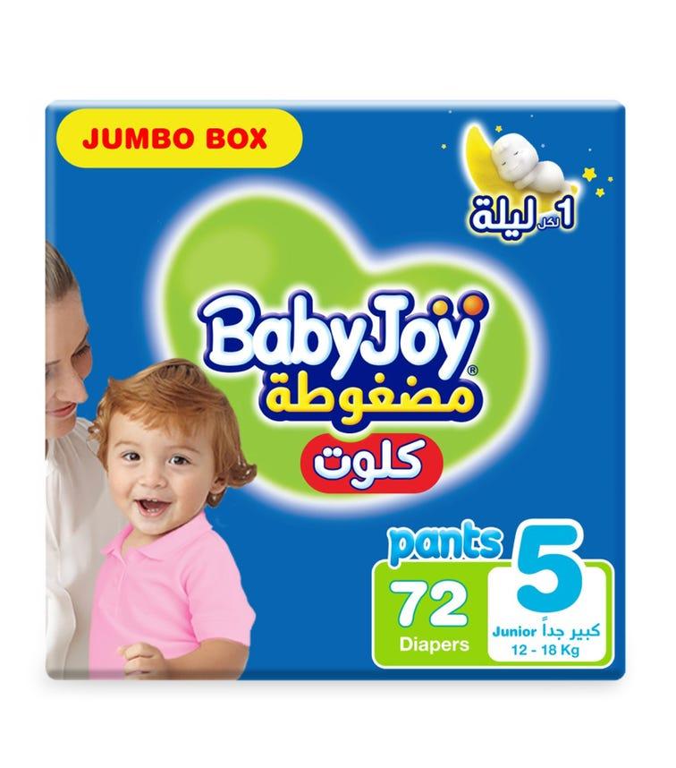 BABYJOY Cullote Pants Diaper, Jumbo Box Junior Size 5, Count 72, 12 - 18 KG