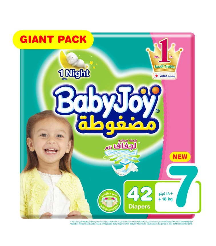 BABYJOY Diapers Giant Pack XXXL Pack Of 42