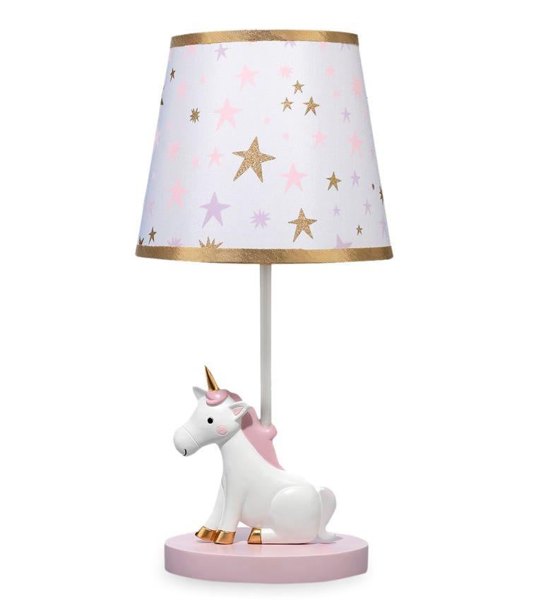 BEDTIME ORIGINALS Rainbow Unicorn - Lamp With Shade & Bulb