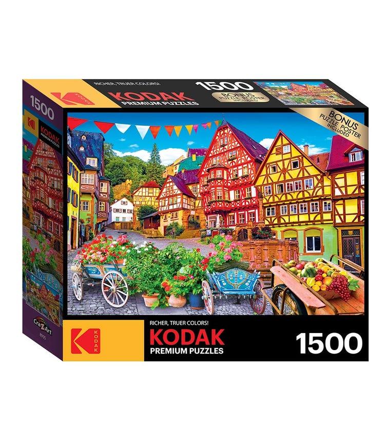 CRA-Z-ART Kodak 1500 Pieces Puzzle - Colorful European Town