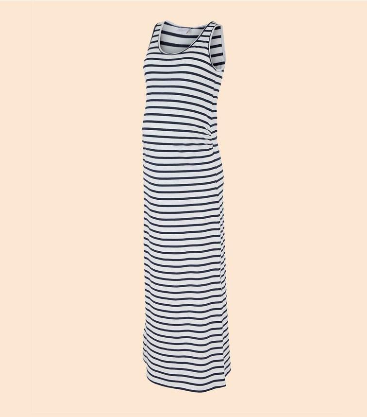 MAMALICIOUS Striped Maternity Maxi Dress