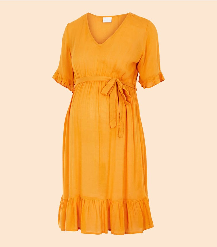 MAMALICIOUS Frill Detailed Maternity Dress