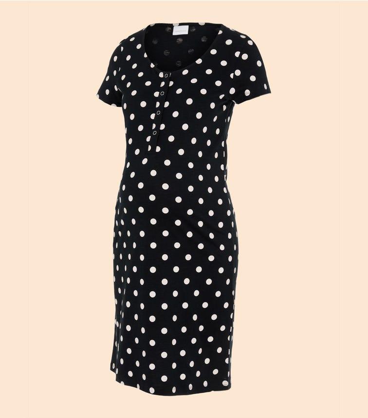 MAMALICIOUS Polka Dots Nursing Nightdress