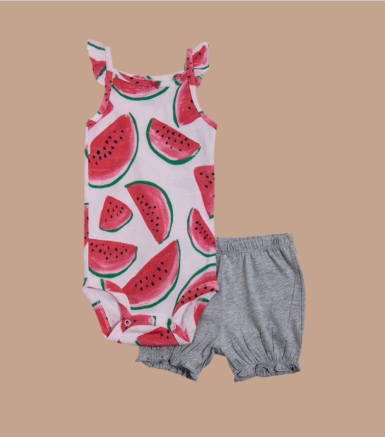 CARTER'S 2-Piece Watermelon Bodysuit & Short Set