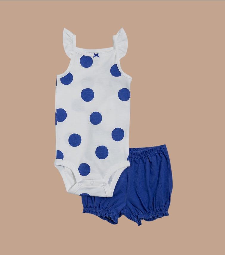 CARTER'S 2-Piece Polka Dot Bodysuit & Short Set