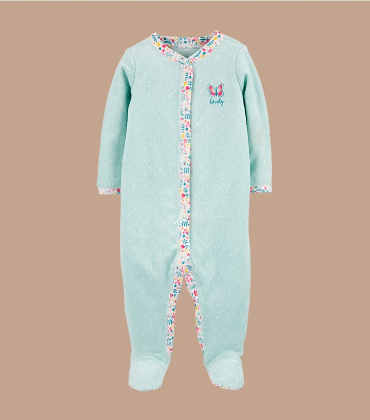 CARTER'S Butterfly Snap-Up Cotton Sleep & Play