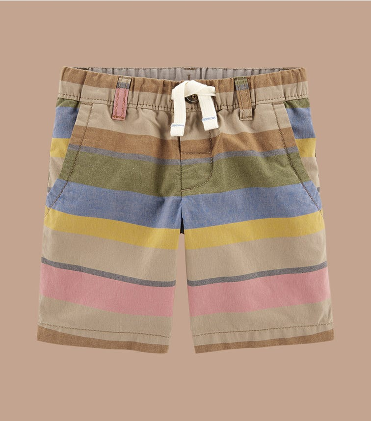 CARTER'S Striped Everyday Pull-On Shorts