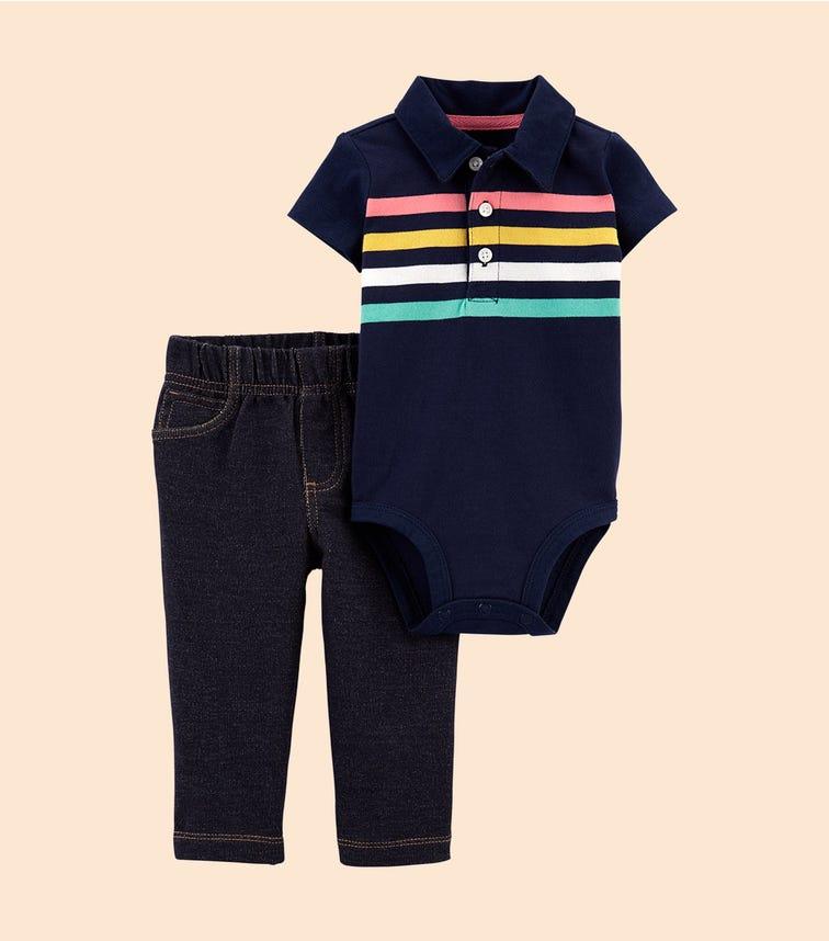 CARTER'S 2-Piece Striped Bodysuit Pant Set