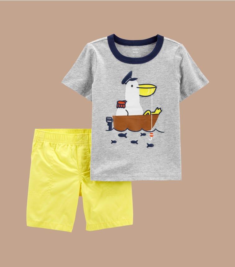 CARTER'S 2-Piece Pelican Jersey Tee & Short Set
