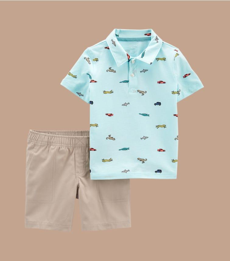CARTER'S 2-Piece Jersey Polo & Short Set