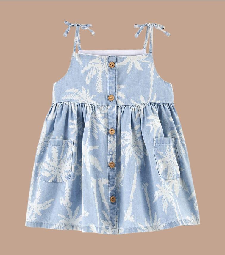 OSHKOSH Chambray Palm Pocket Dress