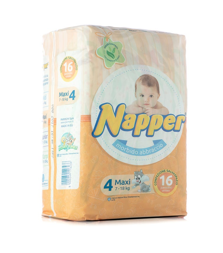 NAPPER Napper Diapers Soft Hug Parmon From 7 - 18 KG, 16 Diapers