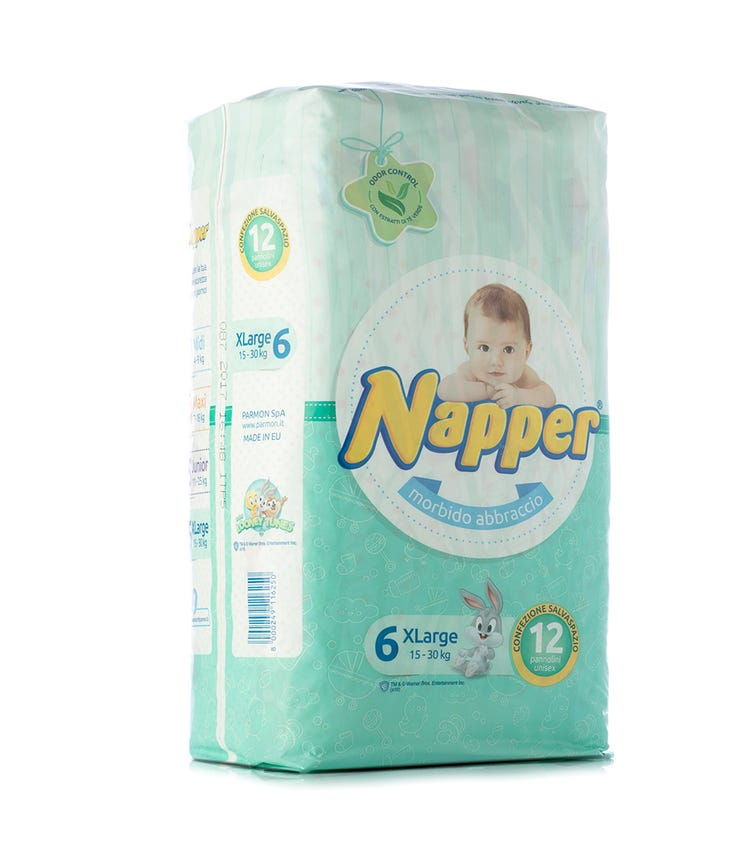 NAPPER Napper Diapers Soft Hug Parmon From 15 - 30 KG, 12 Diapers